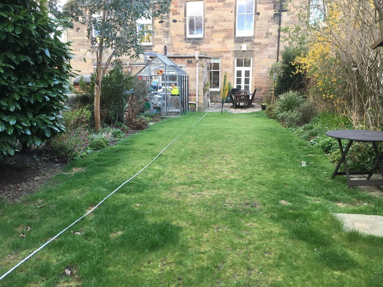 Edinburgh back garden before new design