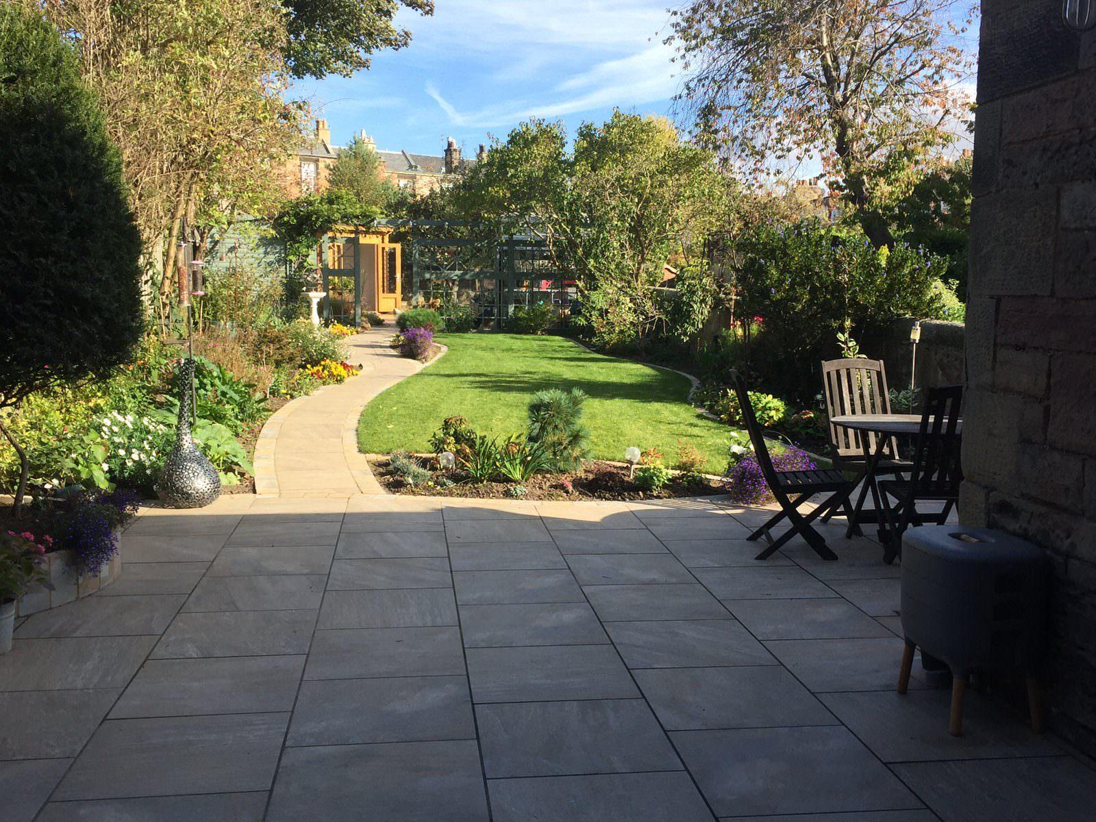 Rear garden design example, Edinburgh
