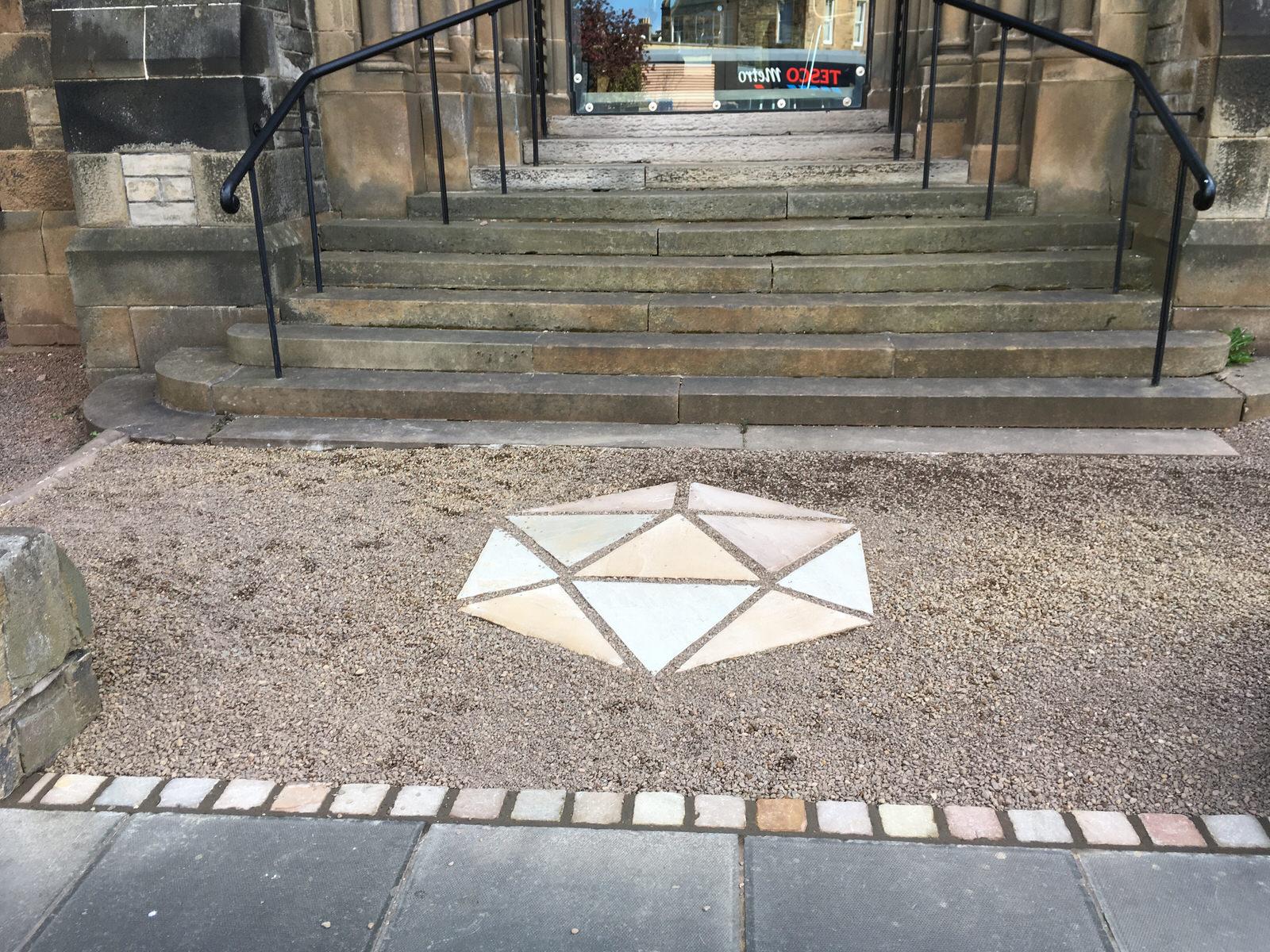 Eric Liddell front entrance, Edinburgh - after garden re-design