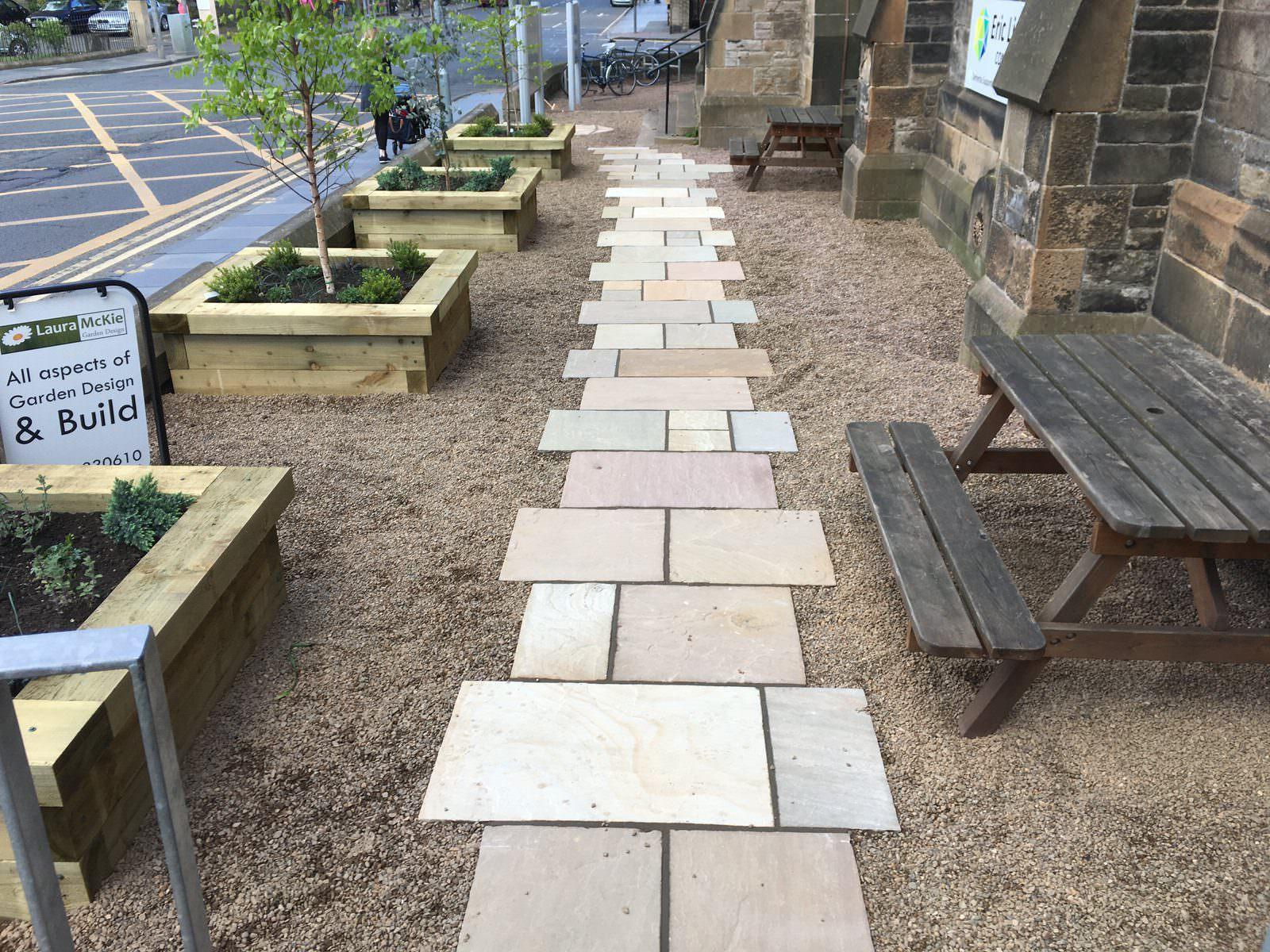 Eric Liddell front garden design, Edinburgh