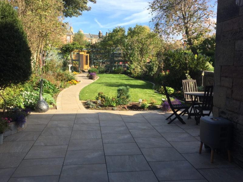 Murrayfield, Edinburgh rear garden design example