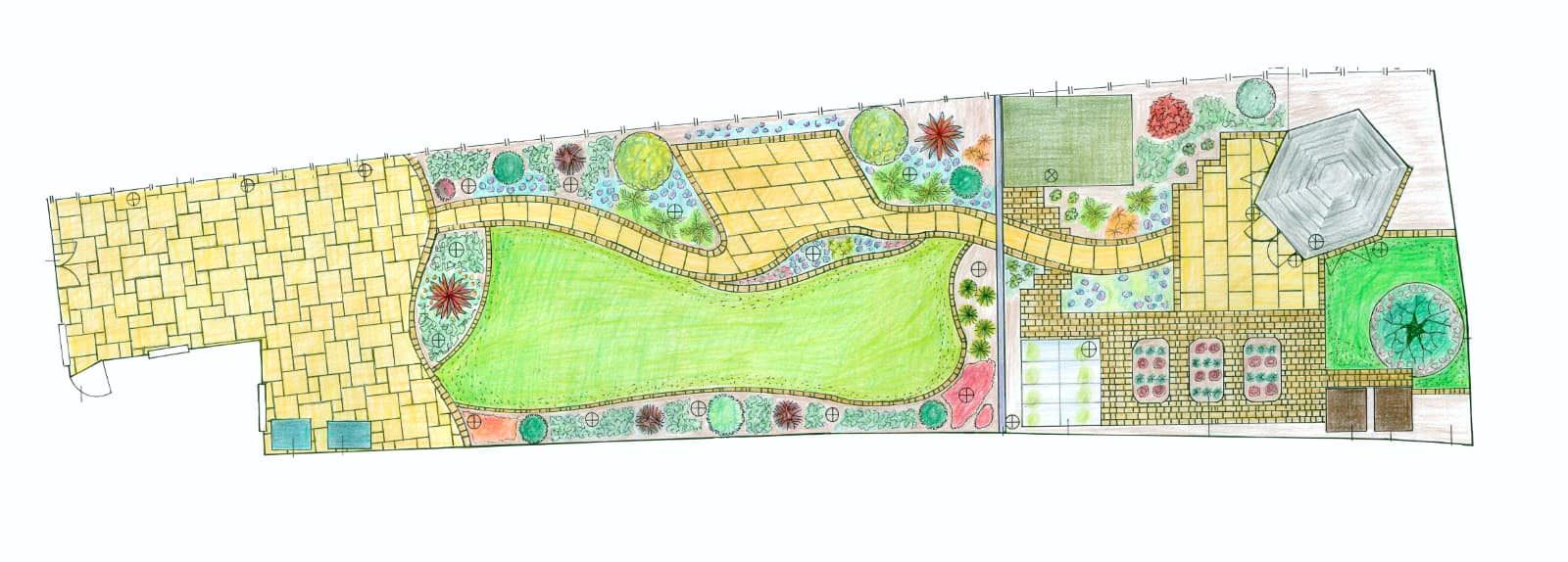 Example garden design from Edinburgh client